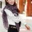 ผ้าพันคอลายหัวใจ : Cute Little Heart ผ้าชีฟอง size 160x75 cm thumbnail 2