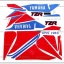 สติ๊กเกอร์ TZR ปี 91 ติดรถสีขาว