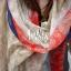 ผ้าพันคอลายลูกน้ำ Paisley Pattern : สีครีมขอบแดง - ผ้าพันคอ Cotton - 180x80 cm thumbnail 9