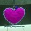 พวงกุญแจโครเชต์รูปหัวใจ thumbnail 8
