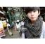 ผ้าพันคอชีมัค Shemash : สีเทาดำ size 100 x 100 cm thumbnail 5
