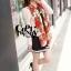 ผ้าพันคอแฟชั่นลายโซ่ Chiffon Chain : สีแดง : ผ้าพันคอ Silk Chiffon 160x60 cm thumbnail 5