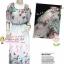 [มี3สีคลิกด้านใน] เทรนด์แรงกับMaxi Dress:DB985 ใหม่! ชุดแซก/แม๊กซี่เดรสแขนตุ๊กตาเว้าไหล่ ระบายไหล่ ผ้าชีฟองดอกไม้สีหวานลายเชิง มีซับใน Gr thumbnail 1