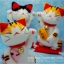 แพทเทิร์นตุ๊กตาถักแมวกวักญี่ปุ่น thumbnail 3