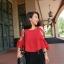 [พร้อมส่ง] ATA373 ใหม่! เสื้อชีฟองสีแดงสวยสด แขนเก๋ สายสานไขว้น่ารักใส่สบายเหมาะกับซัมเมอร์ #464 thumbnail 3