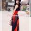 เทรนด์แรงกับ Maxi Dress:ADB106 ใหม่! ชุดแซก/แม๊กซี่เดรสหรู ผ้าไหมชีฟอง ออกแบบเล่นสีสวยเก๋หรู thumbnail 5