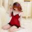 ชุดนอนซีทรูเซ็กซี่สีแดงเลือดหมูสวยมากค่ะ ชุดจริงสวยค่ะ thumbnail 2