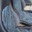 Daihatsu เบาะDaihatsu เบาะไดฮัทสุ กั๊บป๊อ ขอบผ้ามันสีเทาแก่ ผ้ากลางลายสีฟ้า,ขาว thumbnail 2