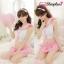 ชุดคอสเพลย์นักเรียนสีชมพู ผูกหลัง น่ารัก สไตล์สาวญี่ปุ่น thumbnail 2