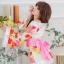 ชุดกิโมโน สีขาว ลายดอกโทนสีส้มทอง สวยมว๊าก thumbnail 3