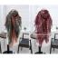 ผ้าพันคอลายกวาง Deer Scarf : สีแดง ผ้า viscose size 180x80 cm thumbnail 3
