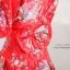 ดกิโมโนแบบสั้นเนื้อผ้าชีฟอง สวมใส่สบาย พื้นชุดสีแดง thumbnail 3