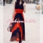 เทรนด์แรงกับ Maxi Dress:ADB106 ใหม่! ชุดแซก/แม๊กซี่เดรสหรู ผ้าไหมชีฟอง ออกแบบเล่นสีสวยเก๋หรู thumbnail 4