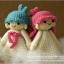 แพทเทิร์นตุ๊กตาถักเด็กน้อย Kiki กับ Lala (Little Twin Stars) thumbnail 4