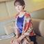 ผ้าพันคอแฟชั่นลายโซ่ Chiffon Chain : สีแดง : ผ้าพันคอ Silk Chiffon 160x60 cm thumbnail 9