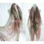 ผ้าพันคอลายวินเทจ Vintage : ผ้าพันคอ Viscose - size 170x70 cm - ขอบเขียว thumbnail 5