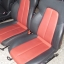 BENZ SLK E190 E160 เบาะMERCEDES BENZ SLK ทรงซิ่ง ขอบข้างหนังแท้สีดำเดินด้ายแดง ตรงกลางหนังสีแดง เบาะเบนซ์ SLK E190 E160 เบาะปีก thumbnail 9