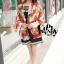 ผ้าพันคอแฟชั่นลายโซ่ Chiffon Chain : สีแดง : ผ้าพันคอ Silk Chiffon 160x60 cm thumbnail 4