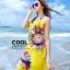 ผ้าคลุมชุดว่ายน้ำ ผ้าคลุมชายหาด ผ้าชายทะเล SH773 : ผ้าชีฟอง size 140x80 cm (มีสายคล้องแขน) thumbnail 2