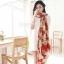 ผ้าพันคอแฟชั่นลายโซ่ Chiffon Chain : สีแดง : ผ้าพันคอ Silk Chiffon 160x60 cm thumbnail 8
