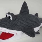 ตุ๊กตาถักโครเชต์ปลาฉลามยักษ์   ขนาด30นิ้ว