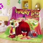 ผ้าห่ม Angry Birds ชมพู 4