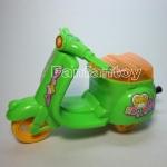 Scooter เชือกดึง สีเขียว มีไฟ