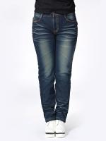 กางเกงยีนส์ฟอกไซส์ใหญ่ ทรงบูท ขายาว (XL,2XL)