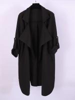 ++พร้อมส่ง++ เสื้อโค้ทไซส์ใหญ่ เสื้อกันลมไซส์ใหญ่ ทรงหลวม สีดำ (3XL)