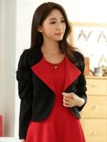 เสื้อคลุมแจ็คเก็ตไซส์ใหญ่ สีดำ แขนยาว ติดกระดุมหนึ่งเม็ด (XL,2XL,3XL)