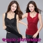 เสื้อกล้าม เสื้อชั้นใน ผ้ากำมะหยี่ สีดำ/สีแดงเข้ม/สีม่วง (XL,2XL,3XL,4XL) thumbnail 1