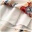 ชุดกี่เพ้าสั้นผ้าซาตินยืดสไตล์เจ้าหญิง คอจีน แขนสั้น สีออฟไวท์ลายอุปรากรจีน (XL,2XL,3XL) thumbnail 5