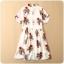 ชุดกี่เพ้าสั้นผ้าซาตินยืดสไตล์เจ้าหญิง คอจีน แขนสั้น สีออฟไวท์ลายอุปรากรจีน (XL,2XL,3XL) thumbnail 3