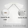 เสื้อยืดเปล่า ผ้า cotton no.30 comb สีขาว