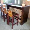 ชุดโต๊ะเค้าท์เตอร์บาร์ไม้สัก+เก้าอี้บาร์ไม้สัก Teak Bar Set