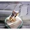 แหวนเพชร gold plated 1microns/white gold plated