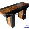 โต๊ะอาหารไม้ลายปาร์เก้ TBG-282