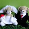 ตุ๊กตาถัก คู่แต่งงาน  <<< แบบนั่ง พร้อมส่ง >>>