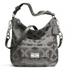 COACH KRISTIN OP ART SATEEN HOBO SHOULDER # 23742 สี Cement Gray