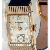 Men's Vintage Fancy Case Diamond Dial Bulova