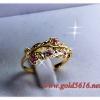 แหวนหัวพลอย gold plated 0.5microns