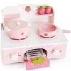 ชุดครัวสตรอเบอรี่ ขนาดเล็ก สีชมพู (Mother Garden Mini Strawberry Kitchen Pink Set)