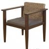 เก้าอี้ไม้แต่งผักตบชวา IFWH-022