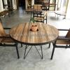 ชุดโต๊ะเก้าอี้ไม้ TB-02W/CR-05W