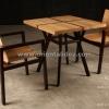 ชุดโต๊ะเก้าอี้ไม้สัก TB-07T/CR-05T