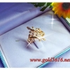 แหวนเพชรรูปใบไม้ gold plated 0.5microns