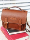 Pre Order / Style flap natural cowhide leather camera bag RUDI Mini Bag