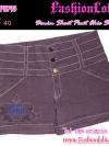 ไซส์40 เอาใจสาวอวบ #ขาสั้นยีนส์ที่กำลังฮิต# PB795 JeanShortPant กางเกงขาสั้นสวยยีนส์ แบบสวยเก๋ แต่งกระดุมเก๋ๆ สีม่วงฟอก