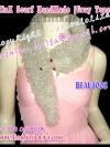 [รับสั่งถักตามสี] หนาวนี้อุ่นด้วยมิ้งค์พันคอ BEAU3008 Mink Scarf Handmade ผ้าพันคอไหมพรมถักเป็นตัวมิ้งค์ พันอุ่น หรูเก๋ เฉดเทา