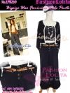 ไซส์36 [เอาใจสาวอวบ] LPB269-36 Wide Pants กางเกงขาบาน/กางเกงกระโปรง เอวสูงเก็บหน้าท้องดีสวยผ้านอกไม่ต้องรีด สีดำ